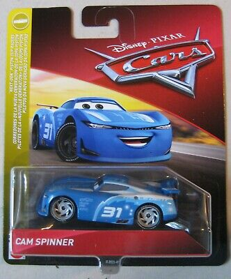 Disney Pixar Cars CAM SPINNER Triple Dent #31~Next Gen Piston Cup Racer~NIP