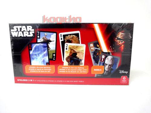 Disney Star Wars Spielebox Episode I-VI Kartenspiele Kinder Spielzeug ASS