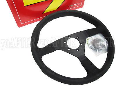 MOMO Tuning Tuner Steering Wheel MONTE CARLO Black Leather 350mm Race Racing
