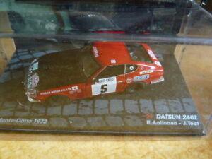 RIT87G-1-43-IXO-altaya-ITALIE-Rallye-Safari-1984-DATSUN-240Z-Monte-Carlo-1972