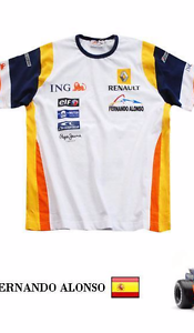 REPLICA FERNANDO ALONSO FORMULA 1 RENAULT F1 TEAM KIDS CHILDREN/'S T SHIRT TOP