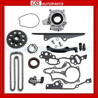 Toyota 22re Timing Chain Kit Oil Pump Hd Steel Guide Rail 22r 85-95 2.4l on Sale