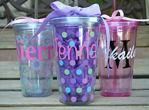 personalized tumbler with straw gifts teacher team wedding