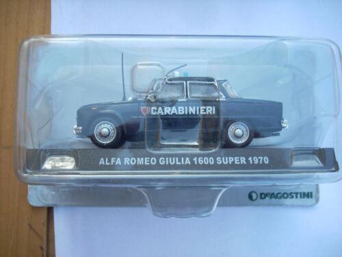 ALFA ROMEO GIULIA 1600 SUPER 1970 CARABINIERI SCALA 1\43