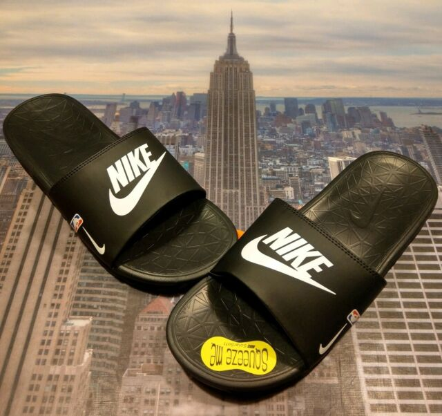 separation shoes 0f006 18ce9 Frequently bought together. Nike Benassi Solarsoft NBA Slide Sandal Black White-Game  ...