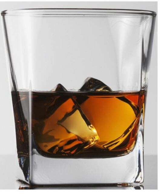 Double Old Fashioned Whiskey/Scotch Glass Drink 10 Oz Set Of 4 Limited Edition