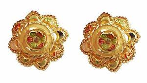 Certified Flower Design Solid 22k Indian Handmade Yellow Fine Gold