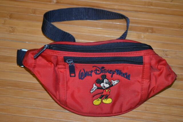 Mickey Mouse Fanny Pack Embroidered Classic Mickey Belly Bag Disney