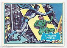 1966 Topps Batman Blue Bat with Bat Cowl Back (36B) A Pressing Position
