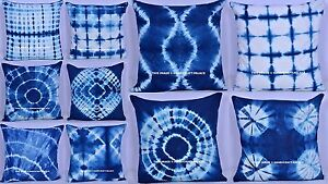 20-PC-Lot-Tie-Dye-Indian-Mandala-Cotton-Cushion-Cover-Indigo-Blue-Pillow-Case
