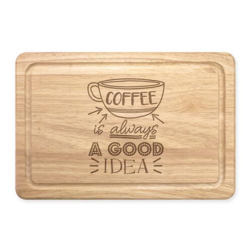 Lustig Caffeine Kaffee Ist Immer A Good Idee Rechteckig Holz Schneidebrett
