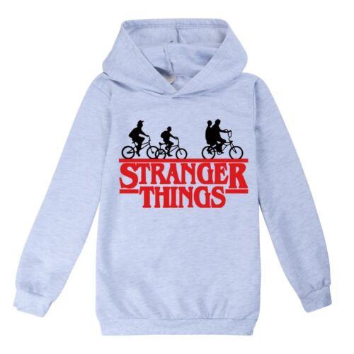 New Stranger Things Hoodies Children Casual Hooded Top Long Sleeve Sweatershirt