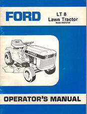 """FORD LT 8  LAWN  TRACTOR  OPERATOR'S MANUAL """"NEW"""" 09GN2108"""