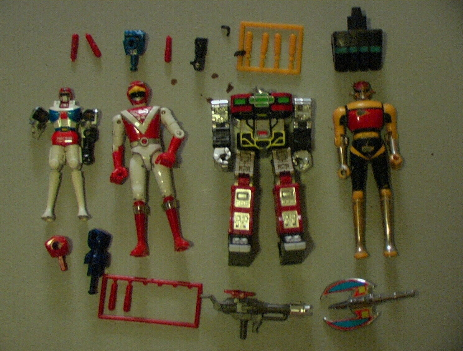 Godaikin VINTAGE Bandai 1984 Lot of 16+ Parts Laserion Daltanus Japan METAL