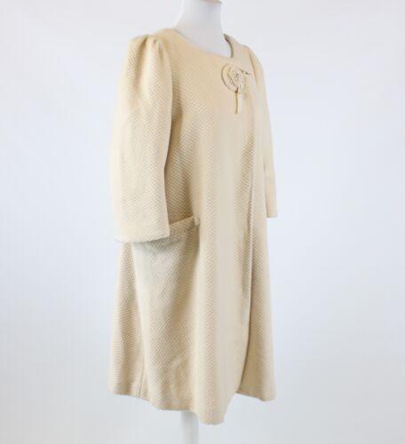 Snap Hanii Blend Textured 3 Ivory Coat Sleeve 4 Front Uld Y 46 16 RwxAXwq5C