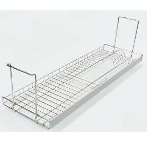 Image Is Loading Aluminium Bar Dish Drying Rack Drainer Dryer Suspended
