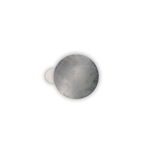 verzinkter Stahl, Ø 11-31 mm, Höhe 0,3 mm Selbstklebende Metallplättchen