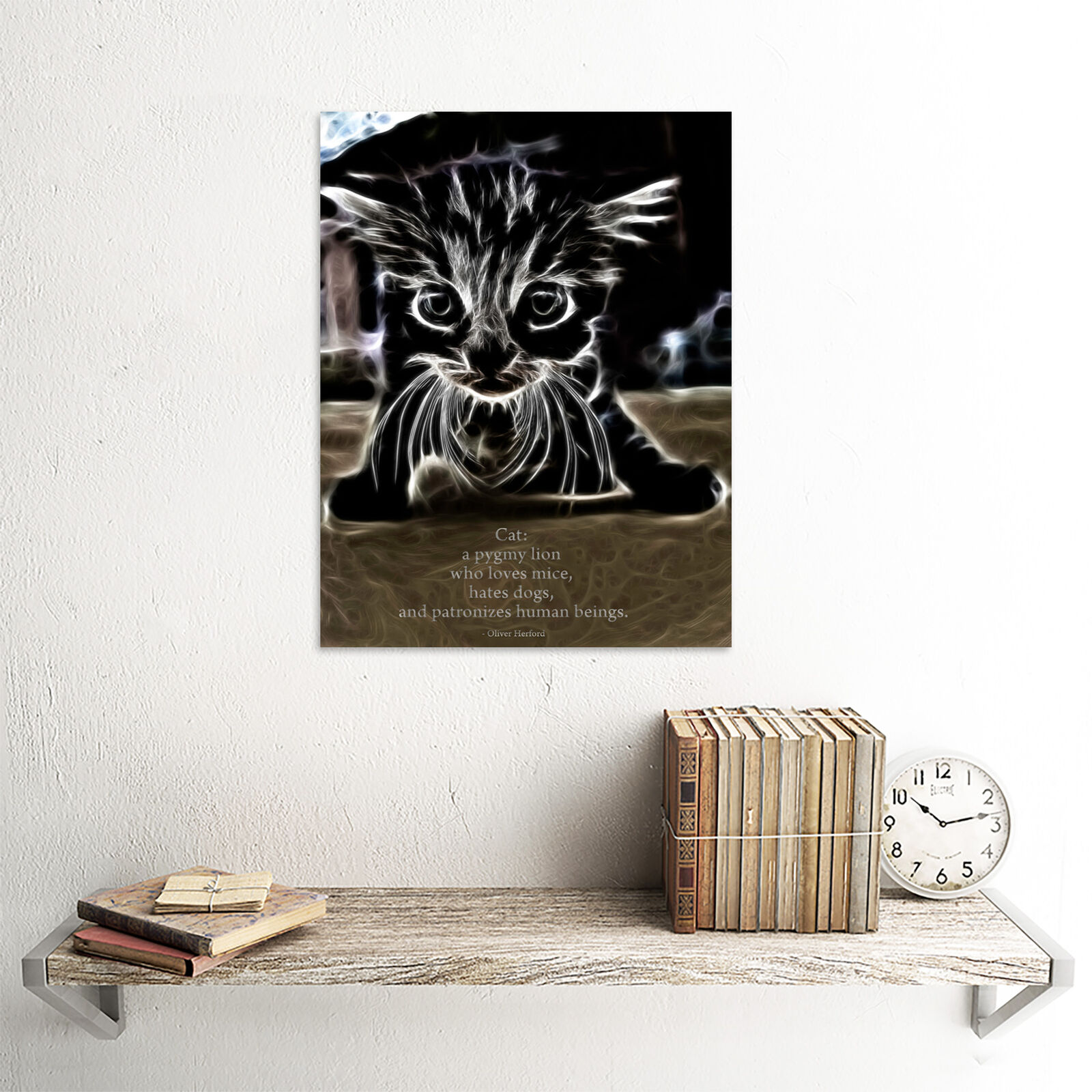 Herford Cat Pygmy Lion Fractal Quote Unframed Wall Art Poster