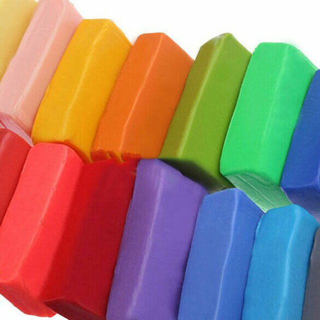 12 Colors Craft Soft Polymer Clay Plasticine Fimo Effect Modeling K ty