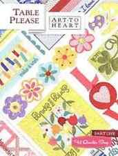 TABLE PLEASE PART ONE by Art to Heart Nancy Halvorsen Quilt Book Patterns Runner