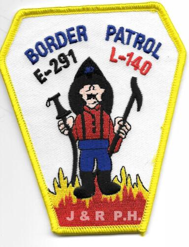 "New York City 3.25/"" x 4/"" size Engine-291 // L-140  /""Border Patrol/"" fire patch"