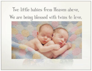 20-TWINS-Girl-Boy-BABY-SHOWER-INVITATIONS-Twin-Hugs-Post-Flat-Cards