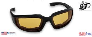Unisex-Windproof-Motocross-Vintage-Retro-UV-Motorcycle-Riding-Goggles-Yellow