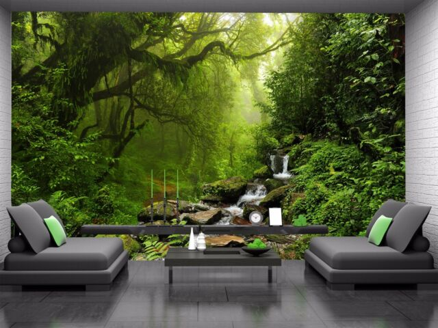 Impressive Forest  Photo Wallpaper Wall Mural DECOR Paper Poster Wall art