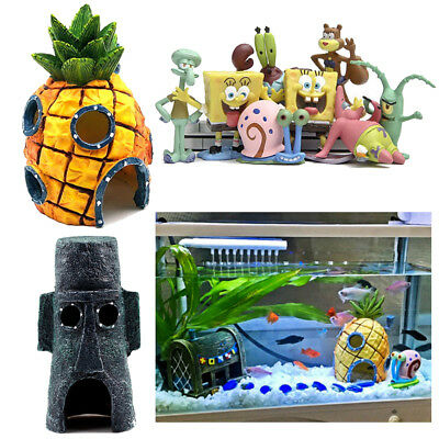 Spongebob Squarepants Pineapple House Fish Tank Aquarium ...
