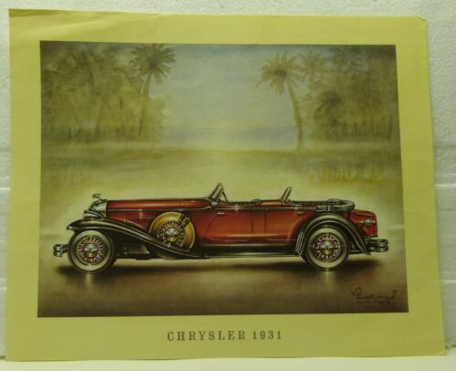 Classic CARS offset LITHOGRAPHIE 1969 CHRYSLER 1931