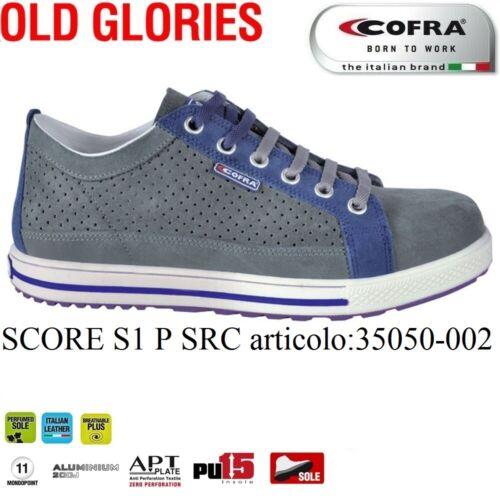 Scarpa antinfortunistica SCORE S1P SRC pelle scamosciata forata Italian Leather+