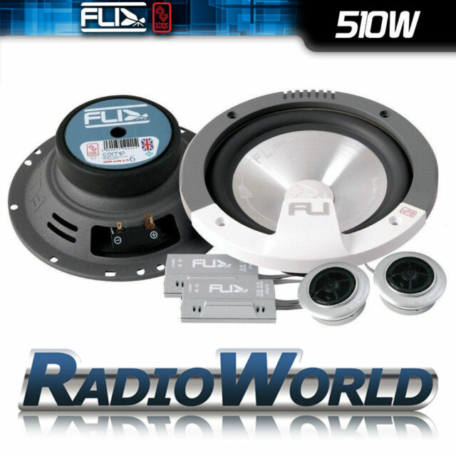 "FLI FI6-COMP 6.5"" 17cm 2 way Car Component Door/Shelf/Dash Speakers 510W Pair"
