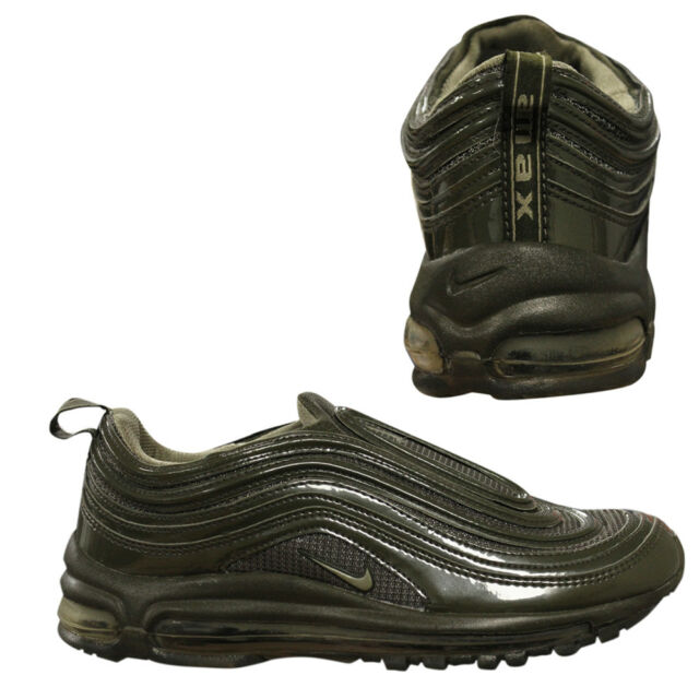 Nike Air Max 97 Mens Slip On Olive Bronze Low Top Trainers 609113 291 B36D