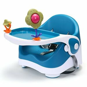 Travel-Feeding-Booster-Seat-Toddler-Highchair-Portable-Travel-High-Chair-Blue
