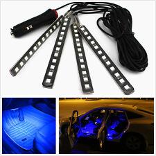 Car SUV Cigarette Lighter Plug Decorative Atmosphere Light Strips Blue Neon Lamp
