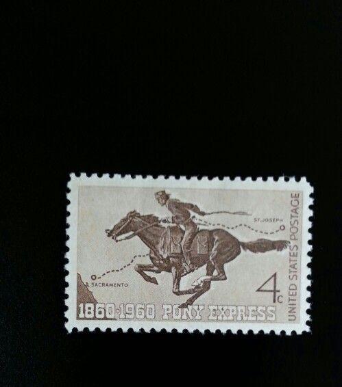 1960 4c Pony Express, 100th Anniversary, Sacramento Sco