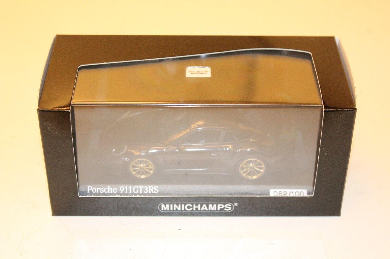 MINICHAMPS 1 43 PORSCHE 911 (991.) GT3RS noir 062 100 413067031