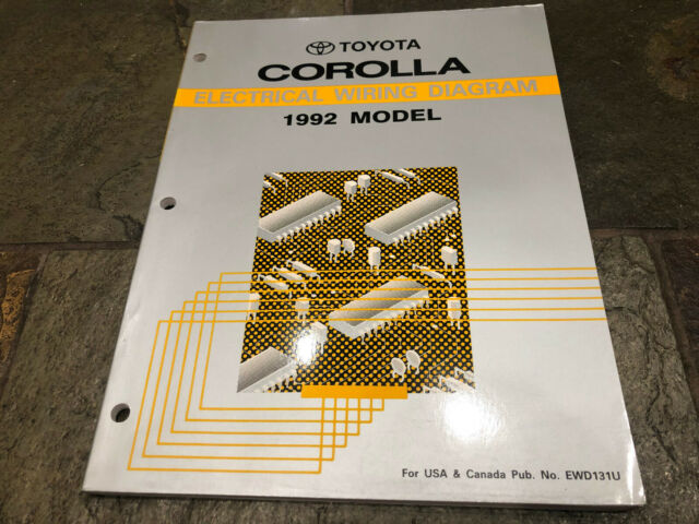 1992 Toyota Corolla Wiring Diagrams Electrical Service Manual