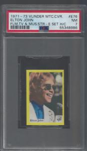 1971-73 ELTON JOHN  PSA 7 VLINDER  *HIGHEST GRADE* IMPOSSIBLE **RARE**