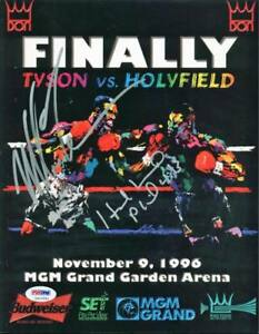 Evander-Holyfield-amp-Mike-Tyson-Authentic-Signed-1996-Fight-Program-PSA-DNA-ITP