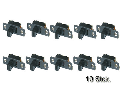 20X 5 stk 50V 0.5A 3-Pin 2-Position On//OFF 1P2T SPDT Schiebeschalter R2C3