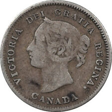 1880-H CANADA 5 CENTS - KM #2, CIRCULATED EXAMPLE