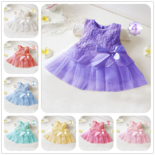 Newborn Baby Girls Children Toddler Party Princess Lace Pageant Tutu Lace Dress