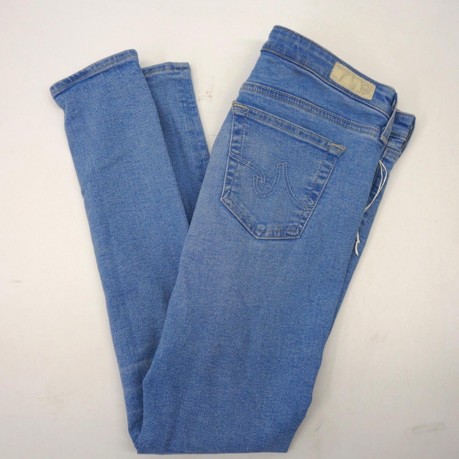 Neu Ag Adriano Goldschmied Damen Super Enge Leggings Knöchel Jeans USA 27