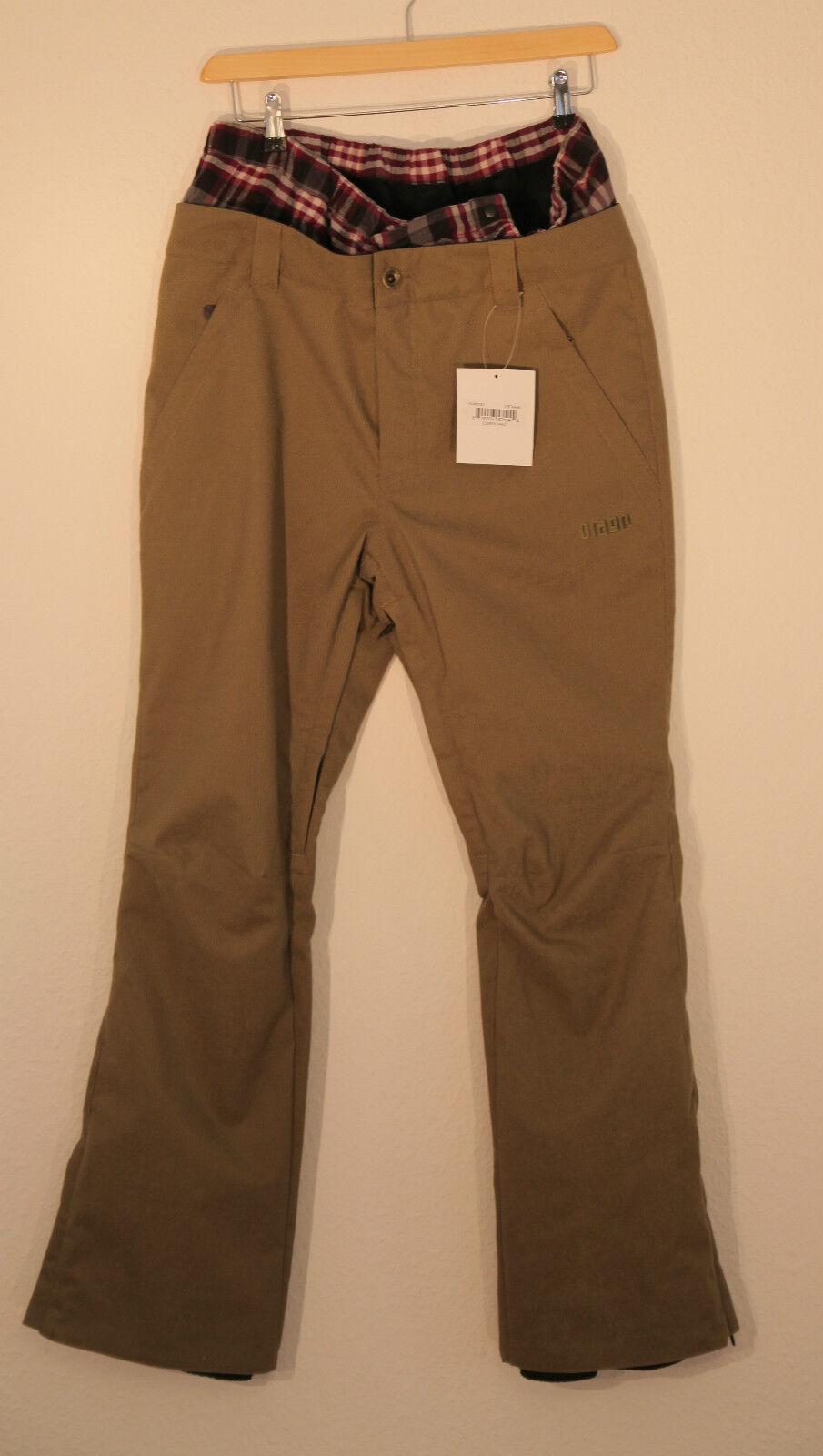 Pantalones de esquí estilo masculino, pantalones saltopettes Elmer caqui, Código L.