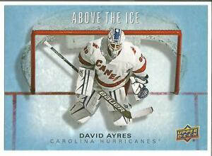 2019-20-David-Ayres-5x7-Upper-deck-Oversize-Hockey-Card-Carolina-Hurricanes