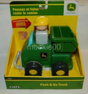 John Deere Preschool PUSH & GO DUMP TRUCK Toy Farm Vehicle