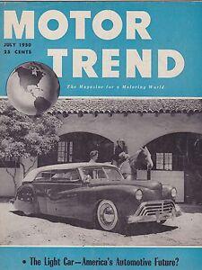 July 1950 Motor Trend Car Magazine Ebay