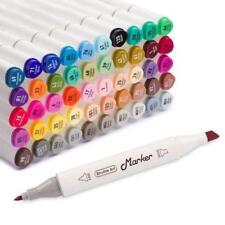 Permanent Marker Pens Doub Shuttle Art 15 Colors Grey Tones Dual Tip Art Marker