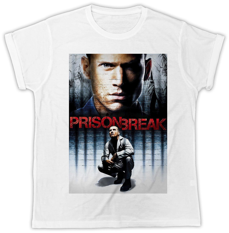 Fashion Prison Break O Neck Mens T Shirt